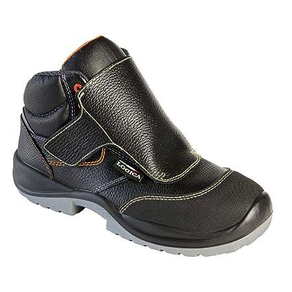 Logica Toledo Zapato Seguridad Soldador 600 gr alta negro piel costuras Kevlar Protección metatarso refuerzo punta