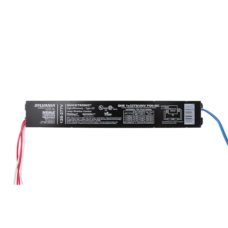 Sylvania QHE1x32T8//UNV-PSN-MC Fluorescent Ballast FO32T8 1 Lamp 32W T8 120//277V