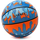 Chance Premium Light-Up LED Rubber Basketball (Size 5 Kids/Youth & Size 7 Men), Volt - Electric Blue/Red