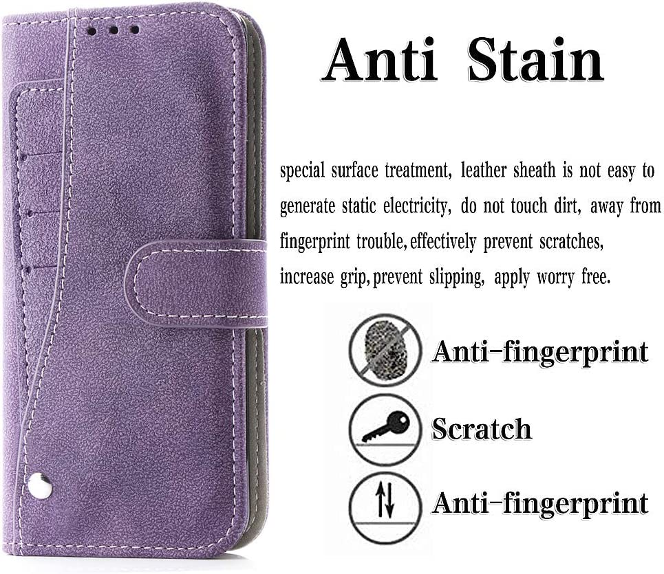 Asuwish Samsung Galaxy A70 Wallet Case,Luxury Leather Phone Cases with Credit Card Holder Slot Stand Kickstand Book Rugged Flip Folio Protective Cover for Glaxay A70 2019 Women Men Girls Purple