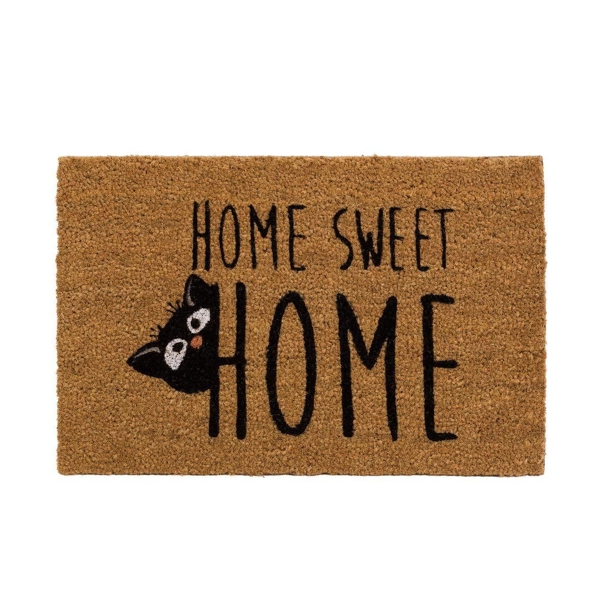 40 x 60 cm Zerbino Moderno con Gatto e Scritta Home Sweet Home