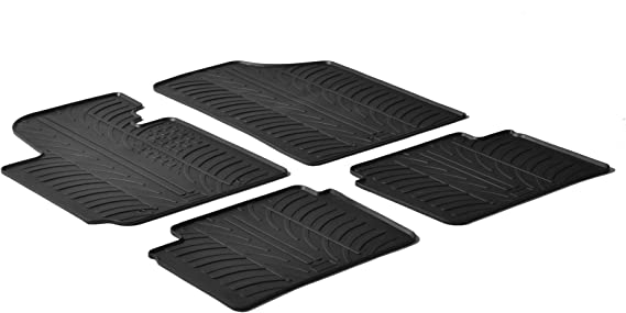 /2017/Hyundai Veloster/ color negro gledring 0199/Custom Fit All Weather 2011/ 4/piezas /Alfombrillas de goma
