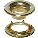 Stimpson Rolled Rim Grommet and Spur Washer Brass