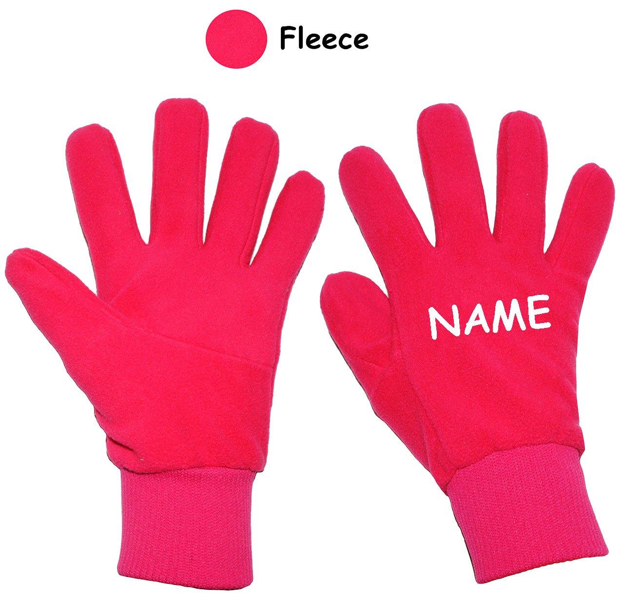alles-meine.de GmbH sehr weiche _ Fleece Fingerhandschuhe - pink / rosa - Größe: 3 bis 4 Jahre - incl. Name - mit extra Langen Bündchen - LEICHT anzuziehen ! Kinder & Babyhan..