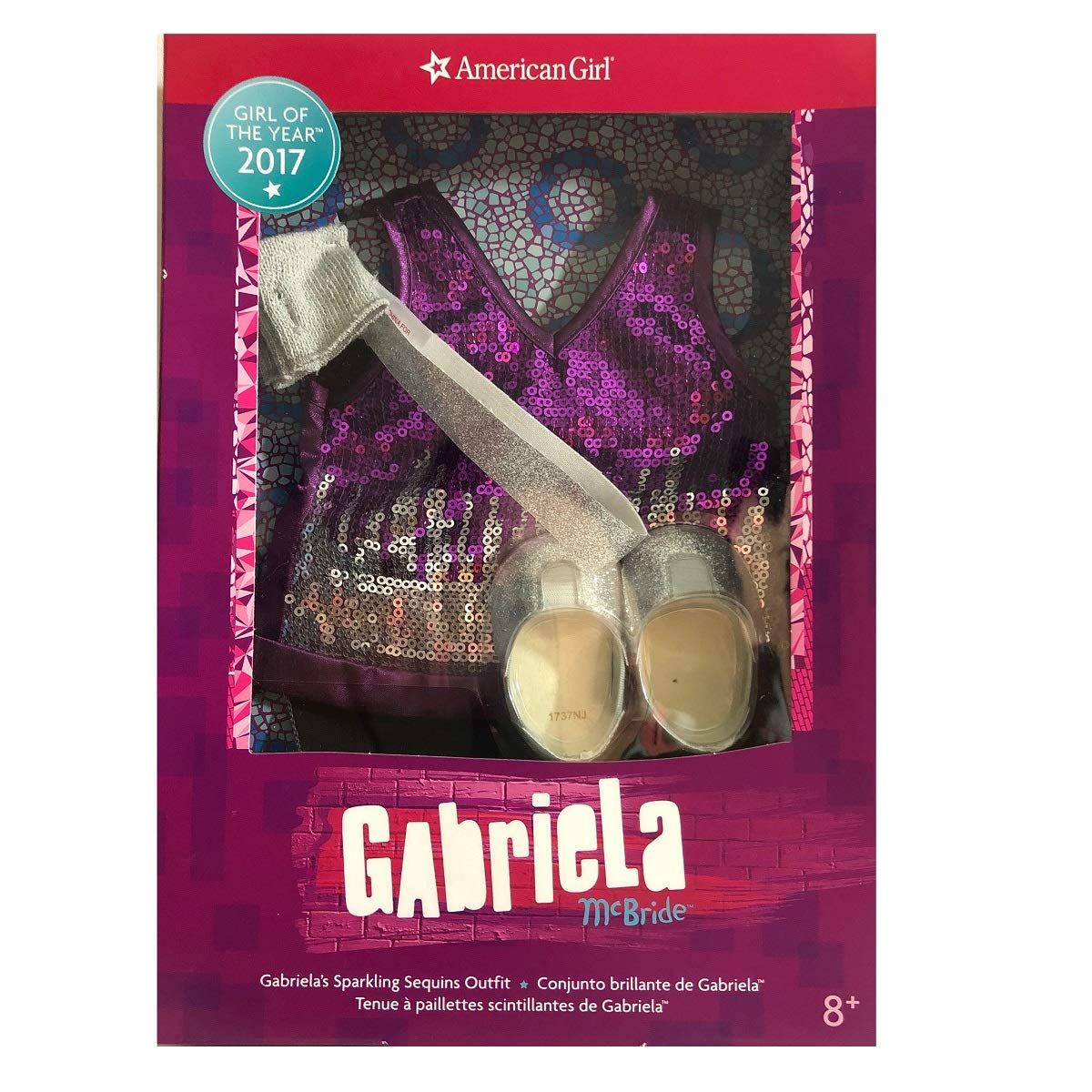 Gabrielas Sparkling Sequins Outfit for 18-inch Dolls American Girl Gabriela McBride American Girl of 2017