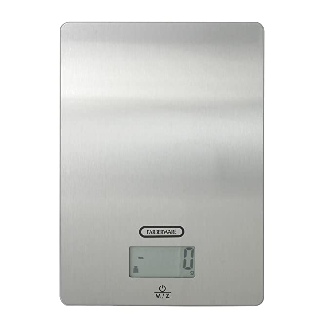 Amazon.com: Farberware Professional Stainless Steel Digital Kitchen Scale, Gray: Kitchen & Dining