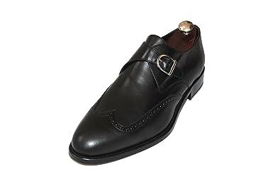 d38b26b02565 SMYTHE   DIGBY Men s Handmade Black Leather Monk Strap Wingtip Dress Shoes  (14