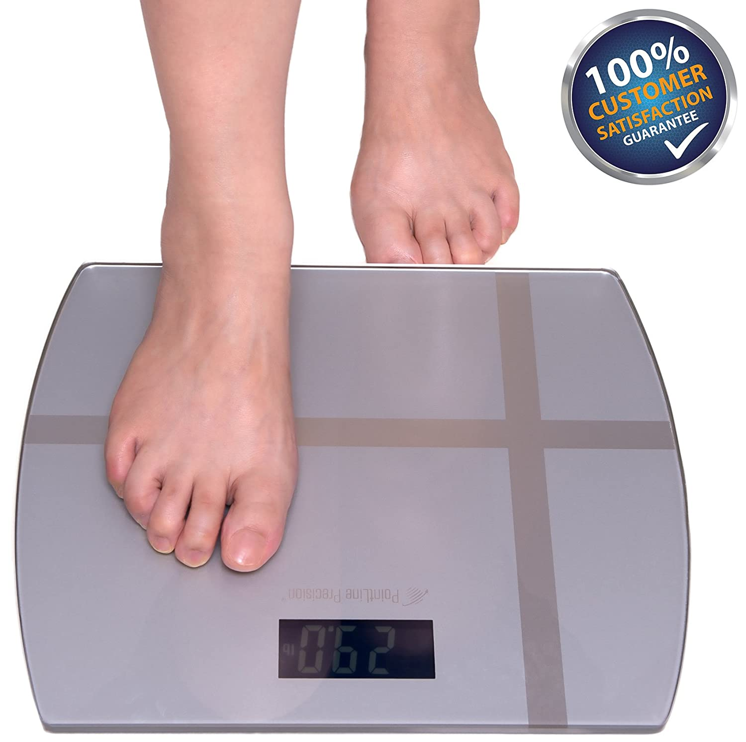 Bathroom scale accuracy consistency - Amazon Com Accupoint Precision Digital Step On Body Weight Bathroom Scale 400 Pound 11x12 Inch Health Personal Care