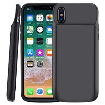 MSDJK Funda Bateria iPhone x, 6000 mAh Carcasa Bateria, Externa Recargable Protector Cargador Power Bank Case para Apple iPhone x (5.8
