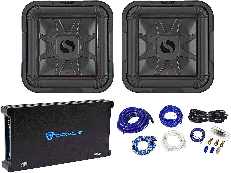 "(2) Kicker 46L7T122 12"" 1200W L7T Subwoofers Solo-Baric Subs+Amplifier+Amp Kit"