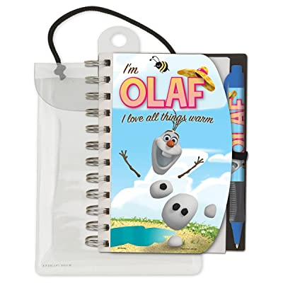 "National Design Disney Frozen Olaf Deluxe Hardcover 4 x 6"" Notebook and Pen Set: Toys & Games"