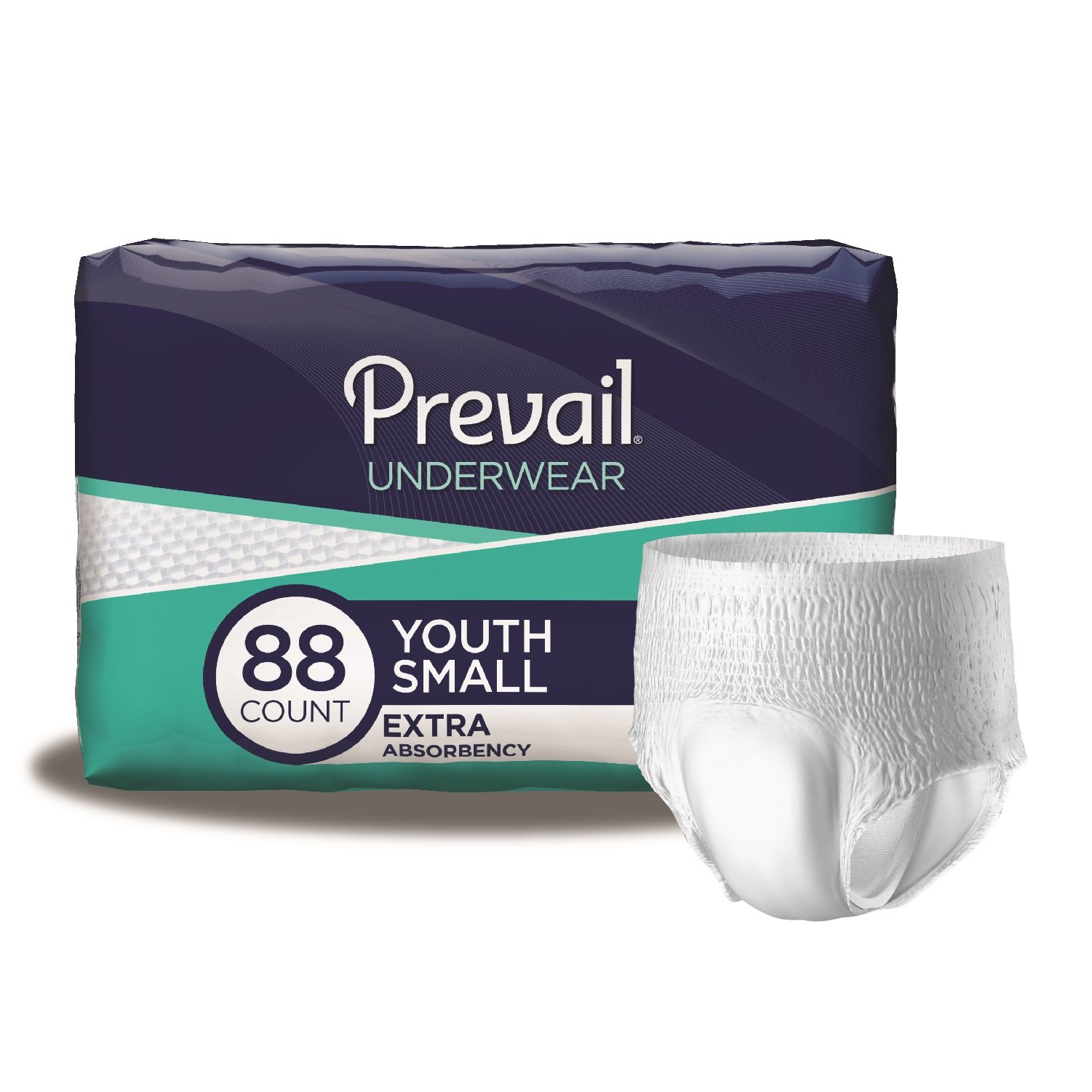 Prevail Extra Absorbency Incontinence Underwear, Youth/Small Adult, 22-Count (Pack