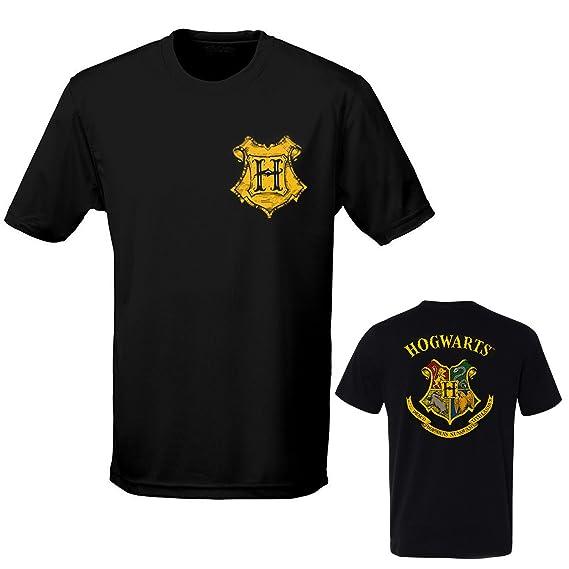 Camiseta Harry Potter Simbolo de Escuela de Hogwarts Impresión Frontal y Posterior - Oficial Warner Bros