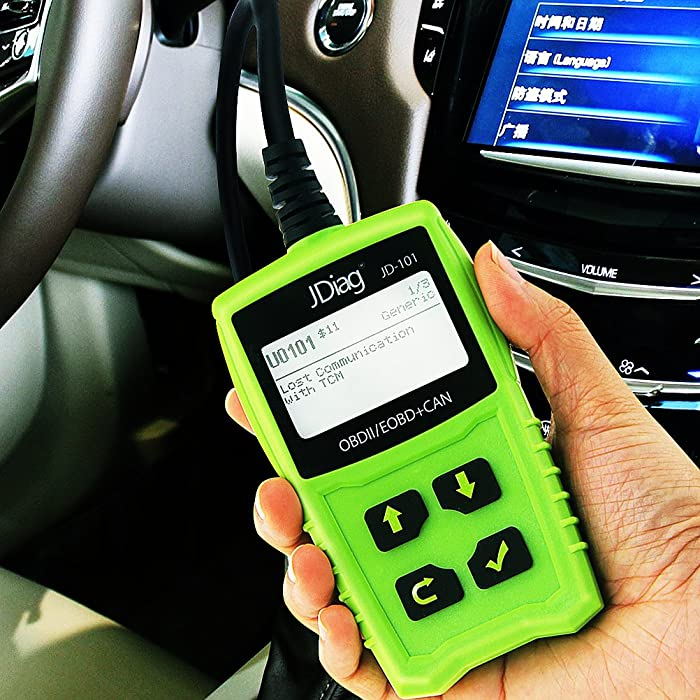 JDiag JD101 is an OBDII car tool which is compatible with all models of vehicles produced during or after the year 1996