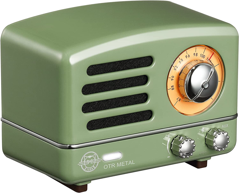 Bluetooth Speaker, MUZEN OTR Portable Bluetooth Speaker, Loud Volume, Stereo Sound, Retro Old Fashion Design, Wireless Speaker with FM/AUX Radio Function for Home, Office, Outdoor