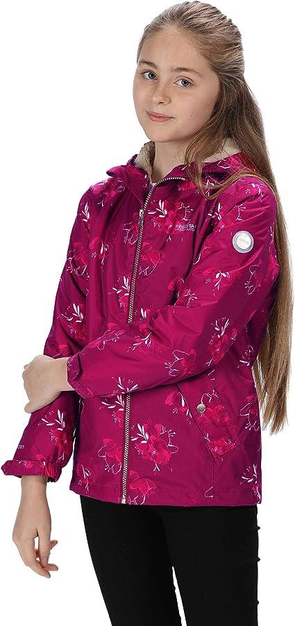 Regatta Kid's 'Braylee' Waterproof Reflective Hooded Insulated Jacket,Regatta