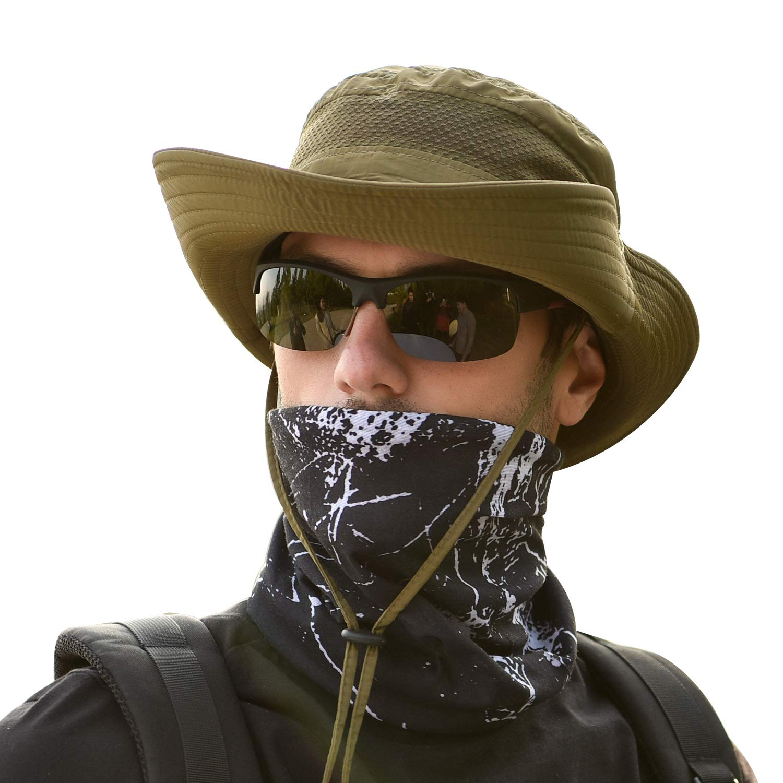 Tagvo Sombrero Ancho Sombreros para el Sol Protecci/ón UV Sombreros de Pescador Acampar al Aire Libre Senderismo Viajes Sombrilla Sombrero de Verano Visor Plegable Gorras para Hombres Mujeres