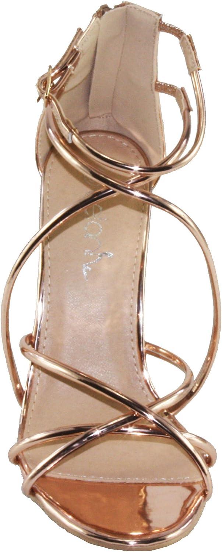 Betani Womens Penelope-12 Strappy High Heel Dress Sandals