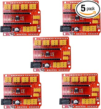 2Pcs Arduino Nano V3.0 I//O Expansion Board Micro Sensor Shield Uno R3 Leonard hs