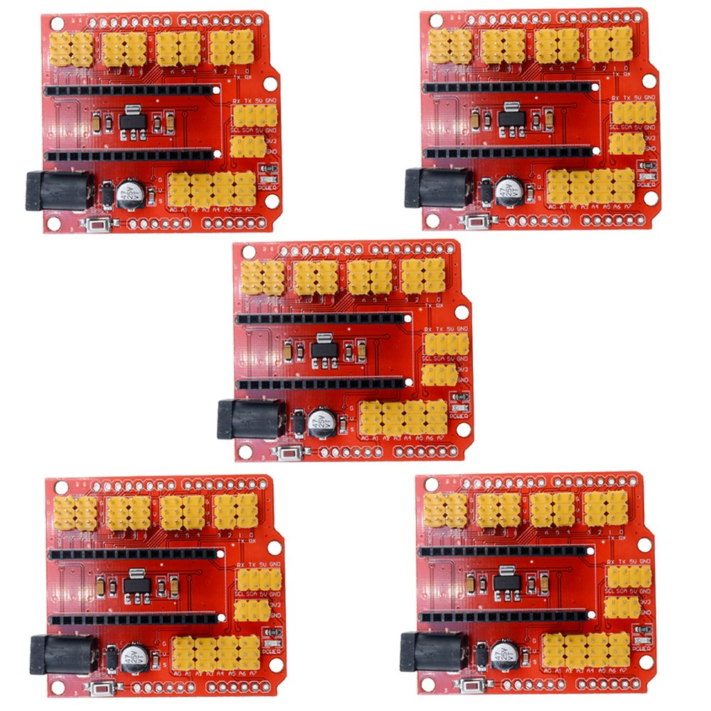 diymore 5pcs Nano Expansion Prototype Shield I/O Extension Board Module for Arduino Nano V3.0