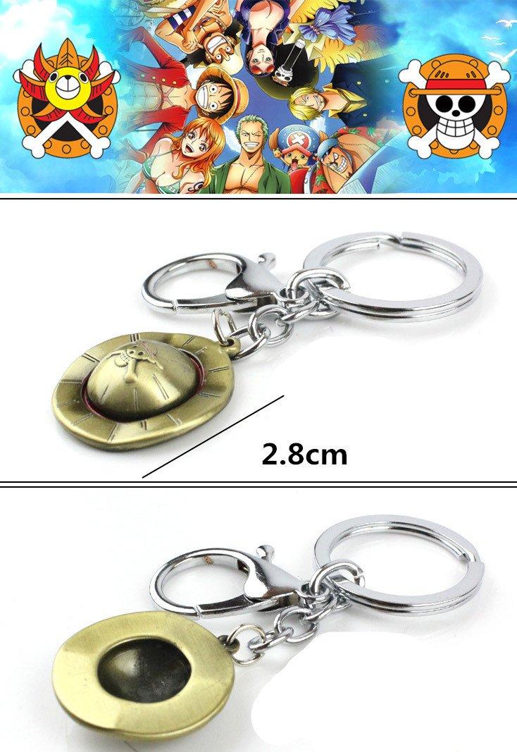 Amazon.com: Luffy Sombrero de Paja metal colgante llavero ...