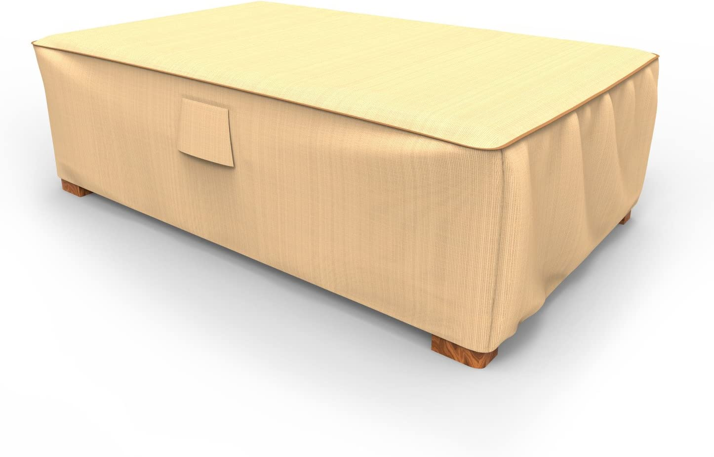 Tan Durable Large Budge P5A36TNNW1 Patio Ottoman Coffee Table Cover Waterproof