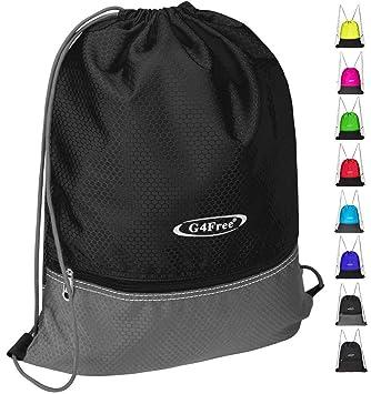 348fb07702cd G4Free Drawstring Backpack Sports Gym Bag Pull String Bag Athletic Cinch  Bag Men Women Sackpack Gymsack