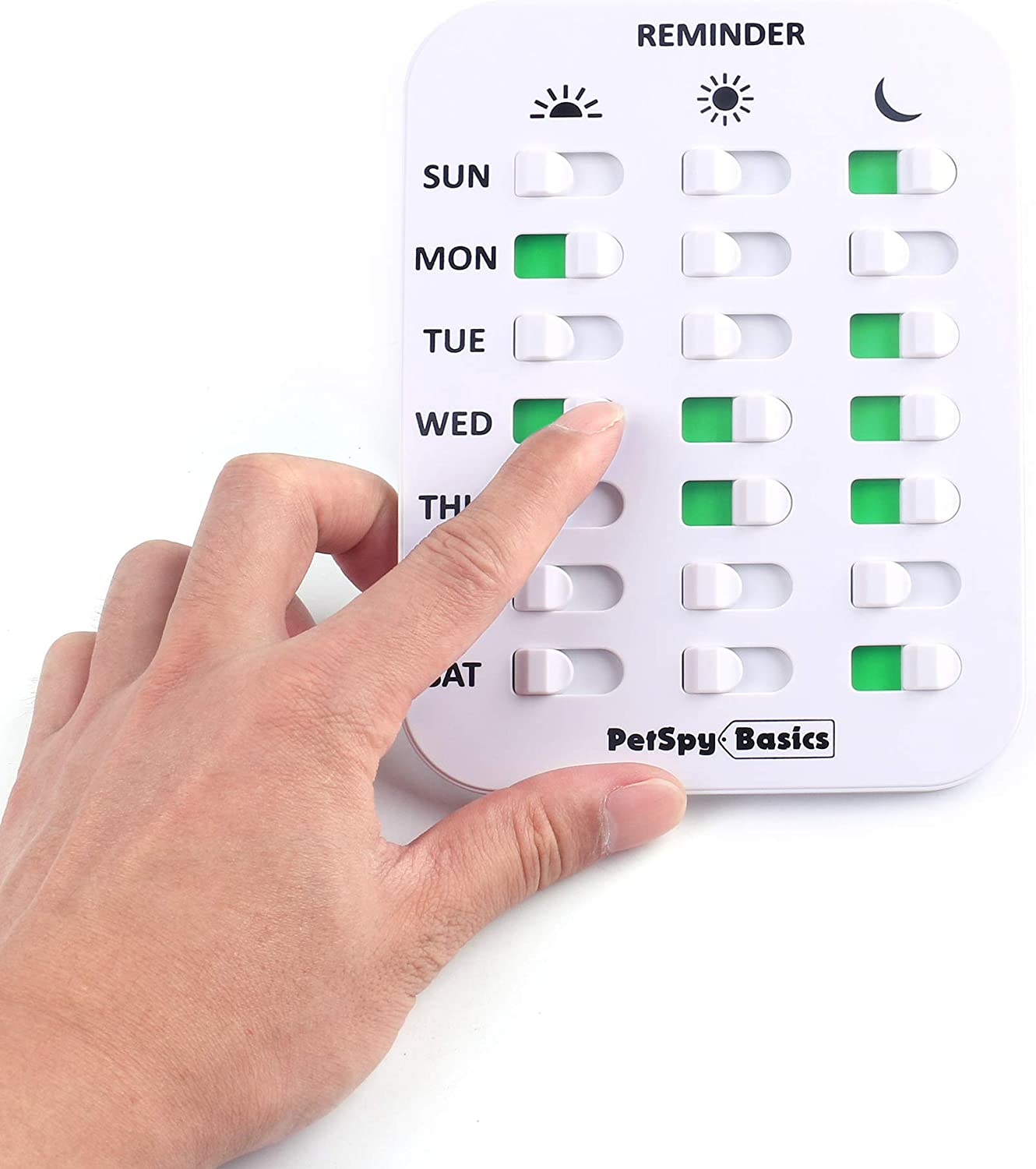 PetSpy Dog Feeding Reminder 3 Times a Day Pet Feeding Chart Easy to Mount Magnetic Tracker to Feed Your Dog Cat, Sticker Daily Indication Tool, Medicine and Food Tracker