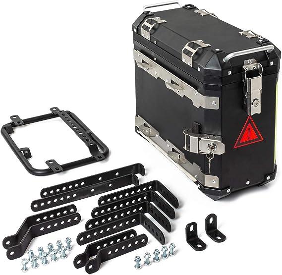 Paar Motorrad Seitenkoffer A Pro Aluminium 2x30l Schwarz Auto