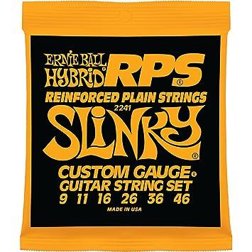 Ernie Ball Hybrid Slinky RPS Cuerdas para guitarra eléctrica con níquel - 9-46 Calibre: Amazon.es: Instrumentos musicales