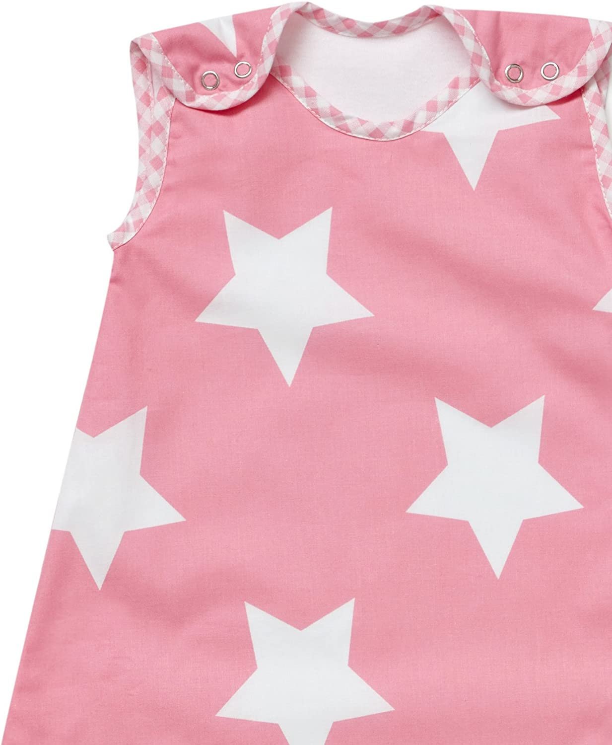Baby Sleeping Bag Pink with White Stars 2.5 Tog 0-6 Months