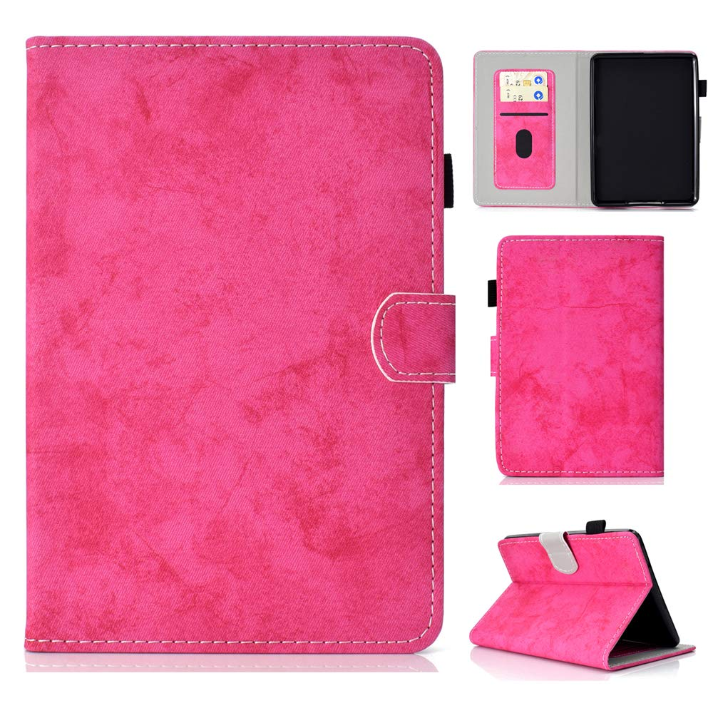 Kindle Paperwhite 1 2 3 Case, BasicStock Ultra Thin Protective Pu Leather Book Wallet Case with Stand Function, Shockproof Soft Cover for Kindle Paperwhite 1 2 3(Pink)