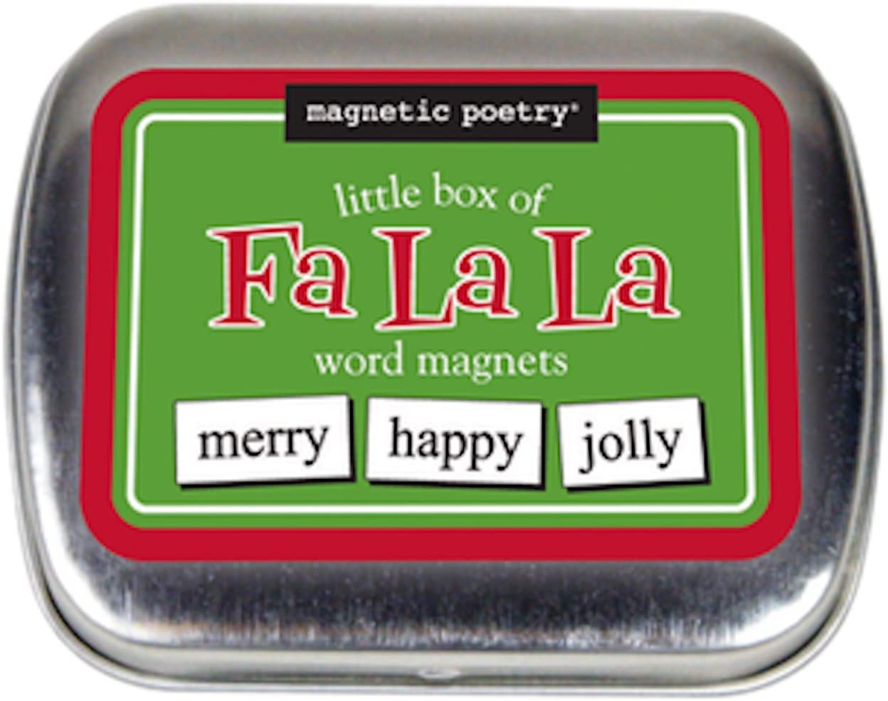 Magnetic Poetry - Little Box of Falala Christmas Kit - Words for Refrigerator - Write Poems and Letters on The Fridge - Made in The USA