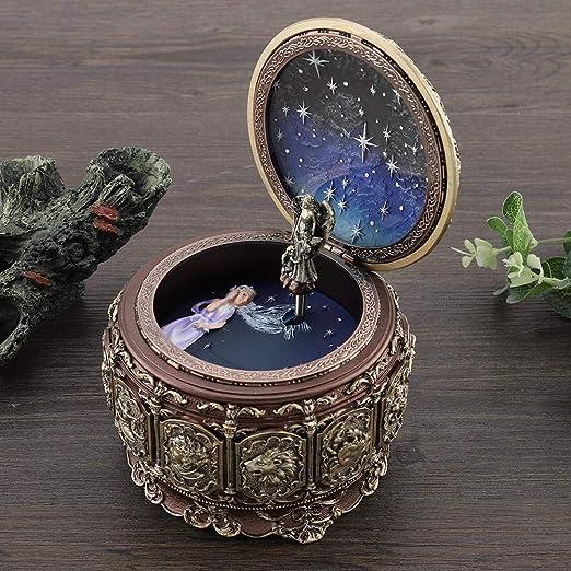 Jeffergarden Caja de música Vintage con 12 Constelaciones, Diosa giratoria, luz LED Parpadeante (Gemini): Amazon.es: Hogar