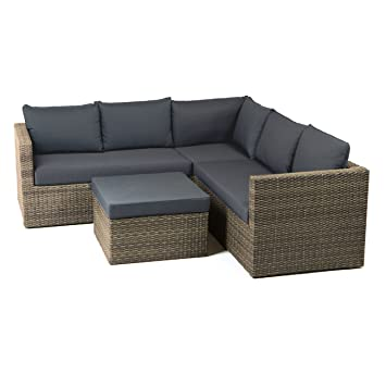 Loungemöbel outdoor günstig grau  Amazon.de: Gartenlounge Polyrattan OUTLIV. Gibson Loungemöbel ...