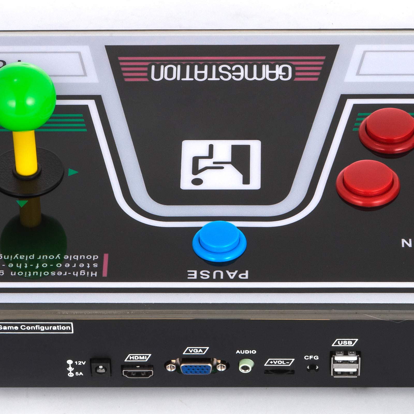 Happybuy Arcade Game Console 1280P Games 1500 in 1 Pandora's Box 2 Players Arcade Machine with Arcade Joystick Support Expand Games for PC / Laptop / TV / PS4 by Happybuy (Image #9)