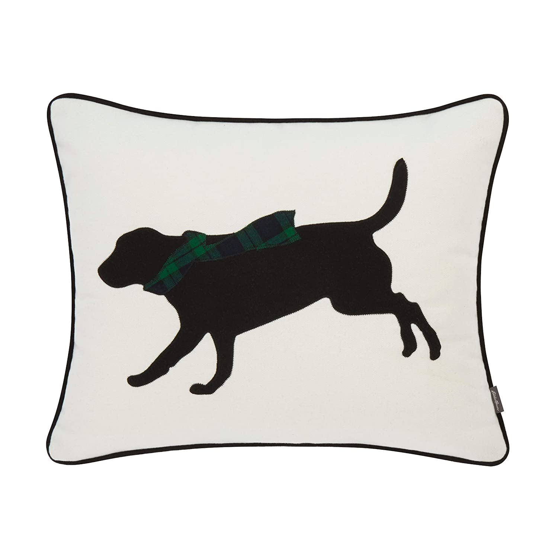 Eddie Bauer Winter Lab Throw Pillow, 16 x 20, Green