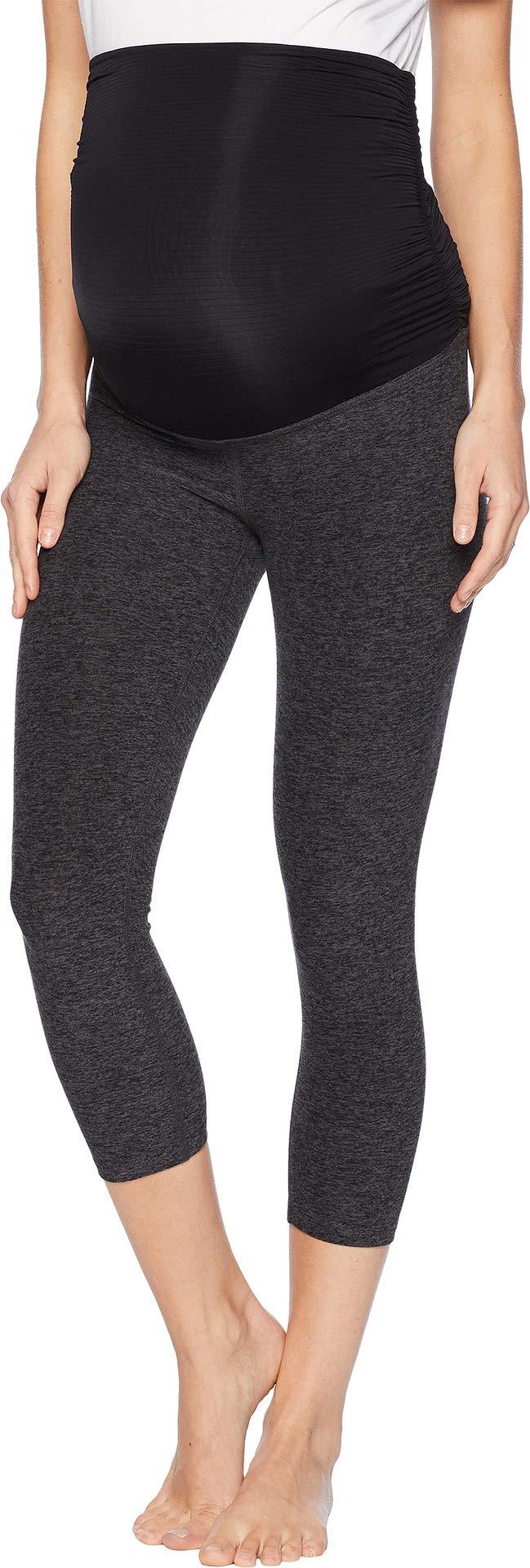 Beyond Yoga Women's Fold Down Maternity Capri Leggings Black Charcoal X-Small 21 21