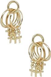 c6338711c Ettika Women's Mini Jingle Cross Stud Hoop Earrings in Gold, One Size