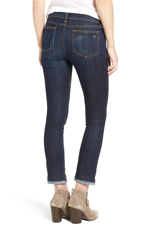 24 rag /& bone//JEAN Crop Straight Leg Jeans Serrano