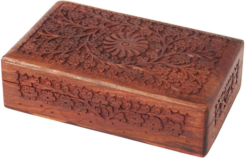 Nirvana Class Wooden Carving Keepsake Jewelry Box Trinket Holder Storage Organizer for Girls
