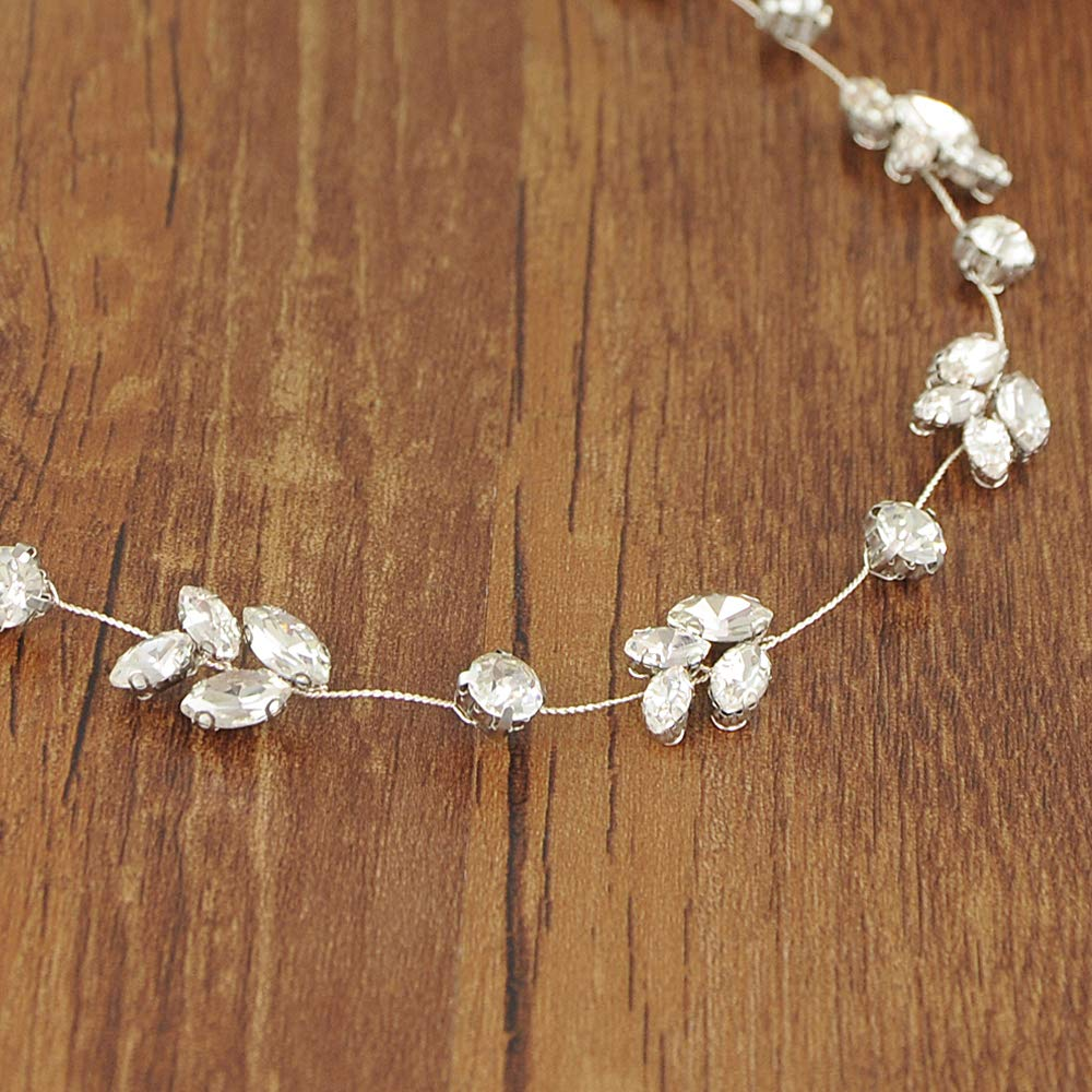 TRiXY Rhinestone Wedding Belt Wedding Sash Thin bridal Sashes for Wedding Dress,SH172
