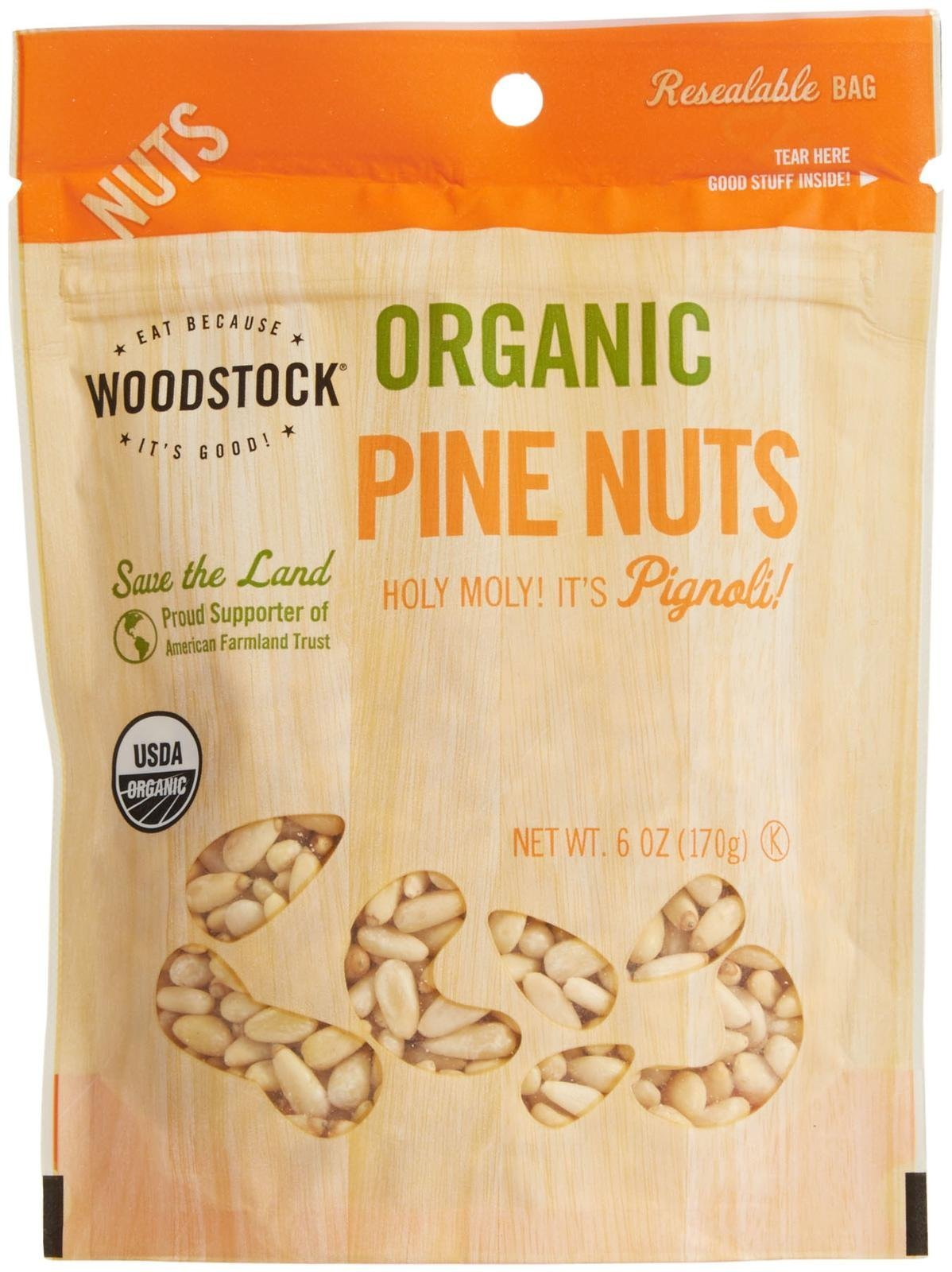 Woodstock Farms Organic Pine Nuts-6 oz by Woodstock Farms