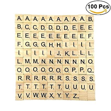 Amazon Ultnice 100pcs Letter Tiles Wooden Letters Scrabble