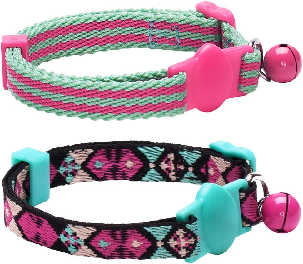 9. Blueberry Pet 7 Patterns Breakaway Safety Cat Collars