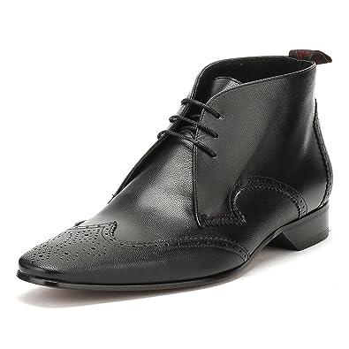 Jeffery West Hommes Medusa Noir Escobar Brogue Brogue Brogue Chukka Chaussures UK 4ce2a0
