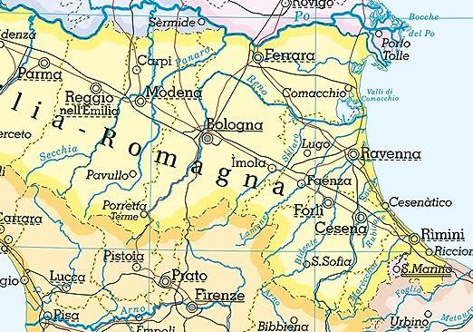 Cartina Italia Politica In Vendita.Carta Geografica Murale Fisica E Politica Italia Belletti 97x134 Cm Ms01pl Amazon It Cancelleria E Prodotti Per Ufficio