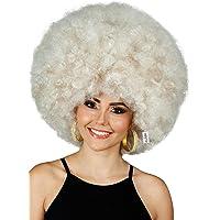 ALLAURA Deluxe Afro Wig Mega Jumbo 70s Afro Dark Blonde Costume Wig | Fits Men & Women
