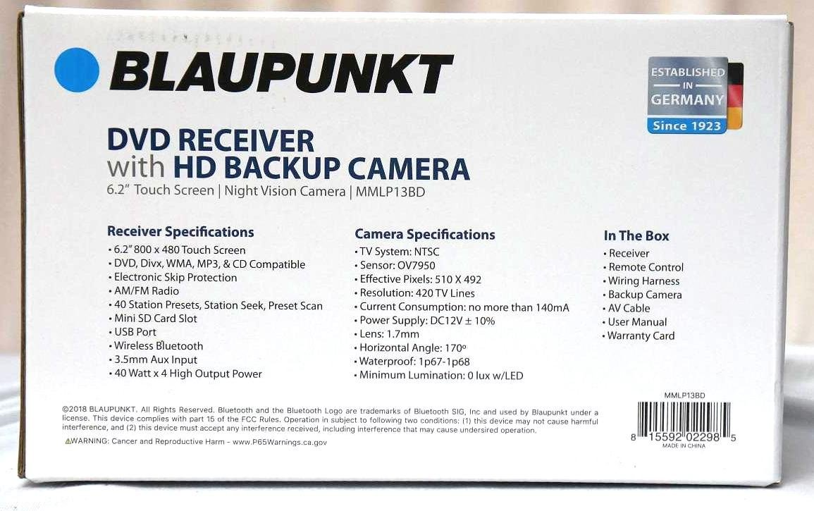 Blaupunkt 420 Bt Wiring Diagram Library Backup Camera Harness Amazoncom Mmlp13bd Car Audio Double Din 2din 62 Touchscreen Dvd Mp3 Cd