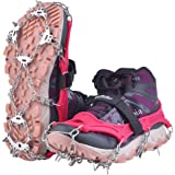 Uelfbaby Upgraded 19 Spikes Crampons Ice Snow Grips Traction Cleats System Safe Protect for Walking, Jogging, or Hiking…